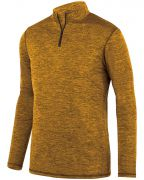 Augusta Youth Intensify Black�Heather Quarter-Zip Pullover