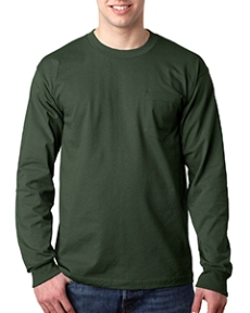 Bayside Adult Long-Sleeve T-Shirt with�Pocket