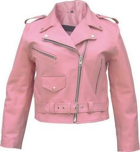 "Women's Classic Leather ""Full Cut"" Motorcycle Jacket"