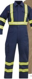 Reflective Trim Coverall (9 Oz. FR 100% Cotton)