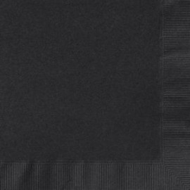 Beverage Napkin - Black