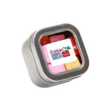 Starburst in Small Square Window Tin