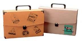 Recycled Ecoboard And Textured Board Attache Case